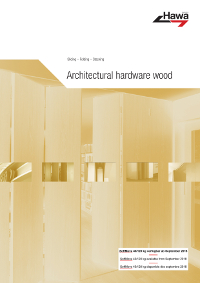 Hawa 201801EN Architectural hardware wood